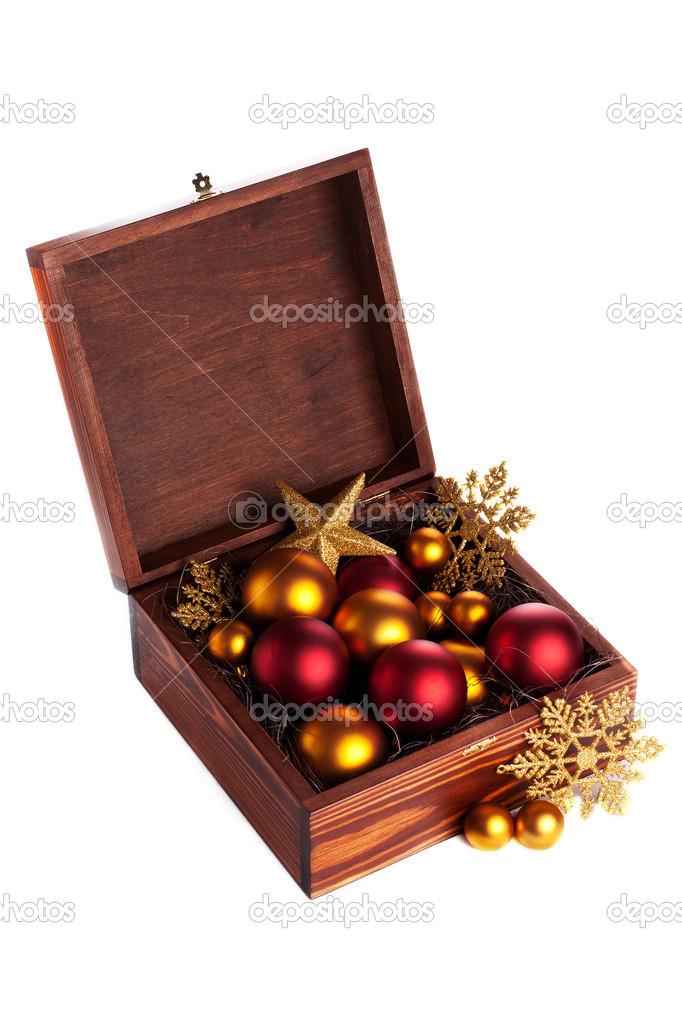 Box Christbaumkugeln.Box Mit Christbaumkugeln Stockfoto Orangedahlia 13824719