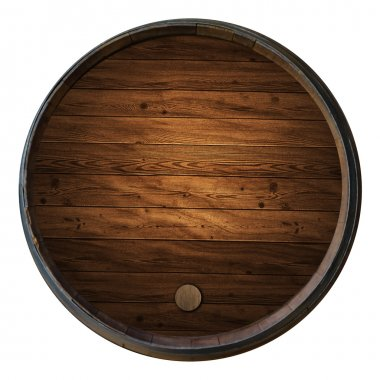 Wine barrels in a old wine cellar