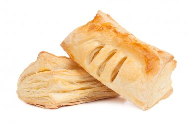 Two pieces of puff pastry