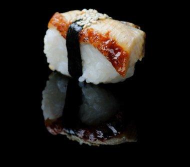 Smoked eel sushi