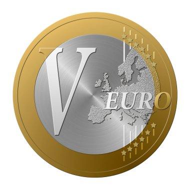 Euro font V