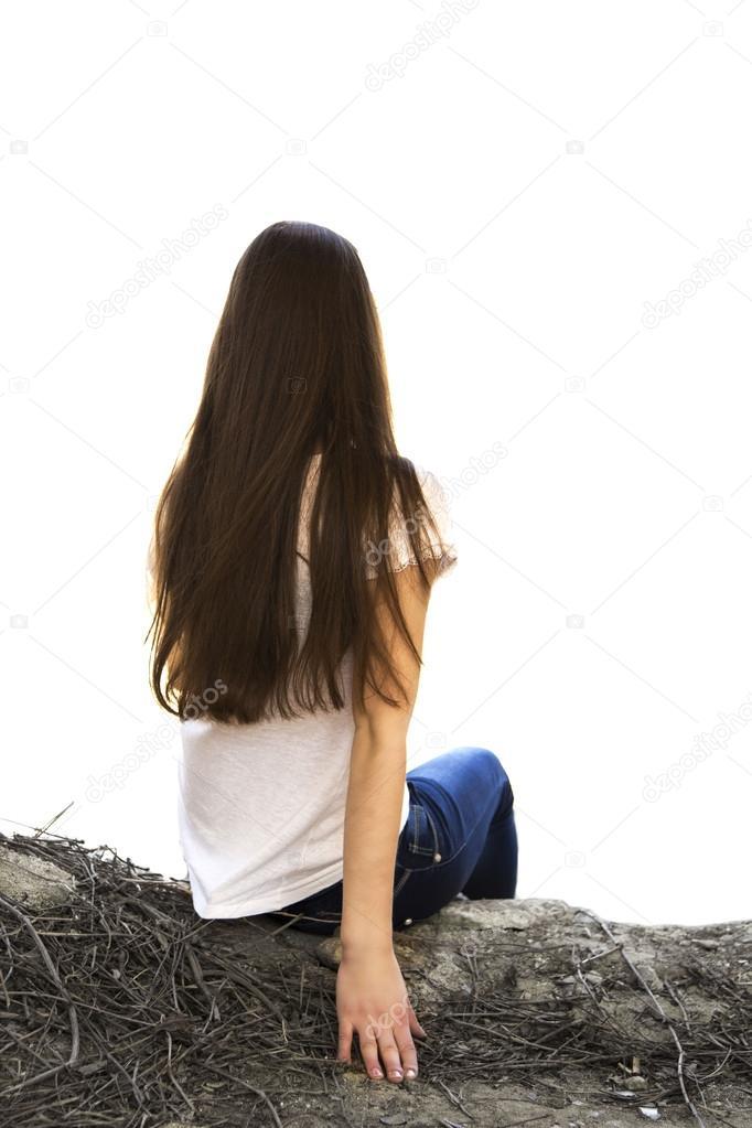 Негритянка госпожа девушка сидящая в профиль версия