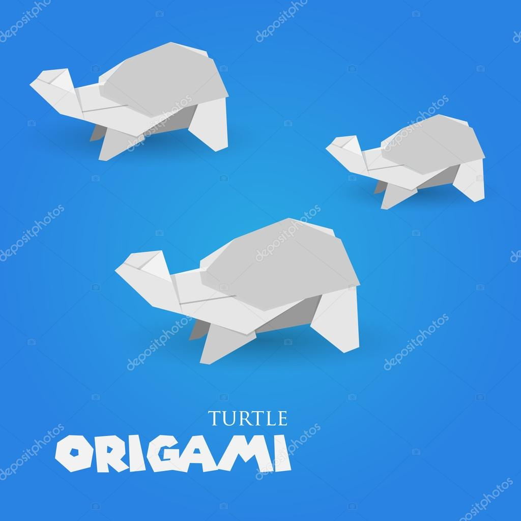 Turtle Origami Stock Vector Darkcheg1 47956249