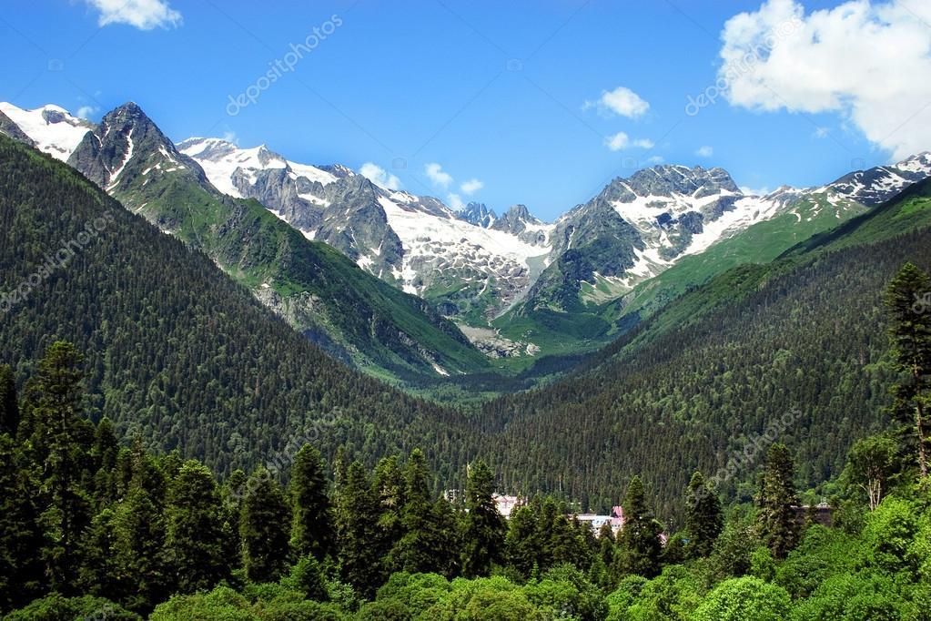 Caucasus Mountains. Region Dombay