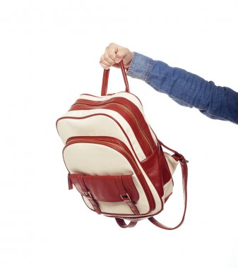 Woman and student bag
