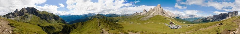 breathtaking mountain panorama, passo Giau, Italy