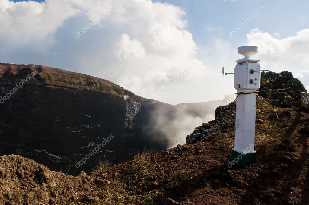 seismological earthquake monitoring station on volcano Vesuvio