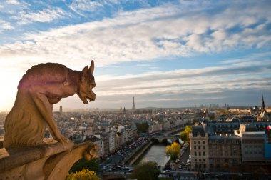 Notre Dame: Gargoyle overlooking Paris