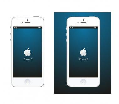 Apple iPhone 5 white vector