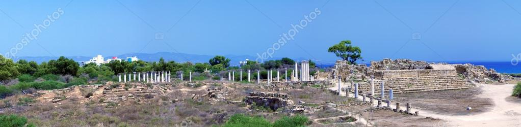 Panorama of Ruins of Salamis near Famagusta