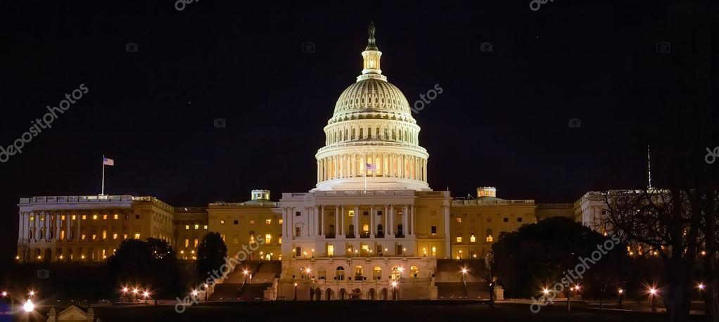 Capitol Building at Night, Washington DC