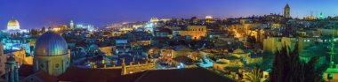Panorama - Old City at Night, Jerusalem