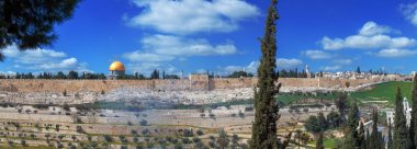 Panorama - Dome of the Rock and Jerusalem Wall