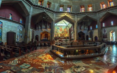 Panorama - Interior of Church of the Annunciation, Nazareth