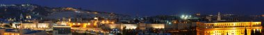 Panorama - Old City Wall at Night, Jerusalem