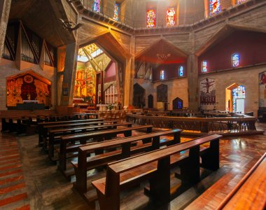 Interior of Annunciation Cathedral in Nazareth