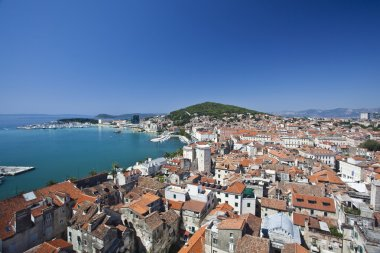 split city view in croatia
