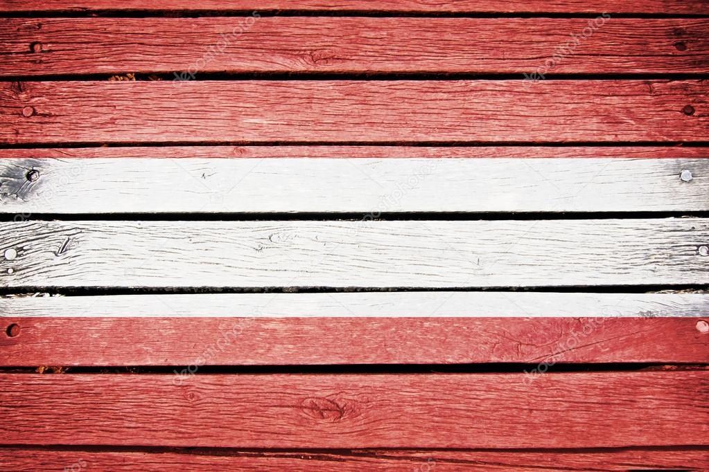 Osterreichische Flagge Die Auf Alten Holz Plank Hintergrund
