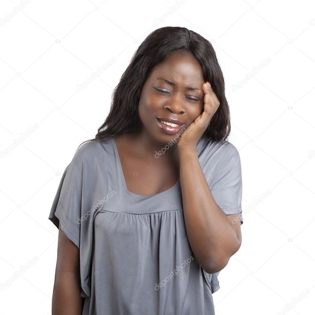 Exceptionnel de la belle femme africaine, expression du visage triste — Photo  HI71