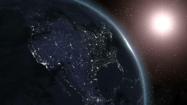 Earth (Highend) východ slunce nad Hd Cgi Severní Ameriky