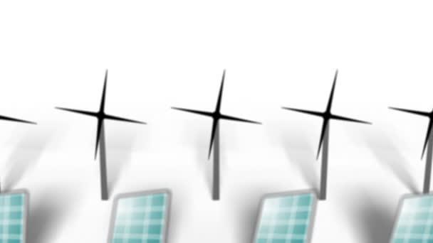 obnovitelné zdroje energie pozadí větrných a solárních panelů
