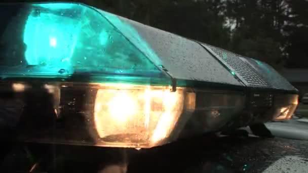 Villogó kék rendőrség fények