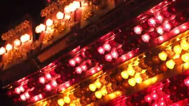 Karneval světla detail. sada tří klipů