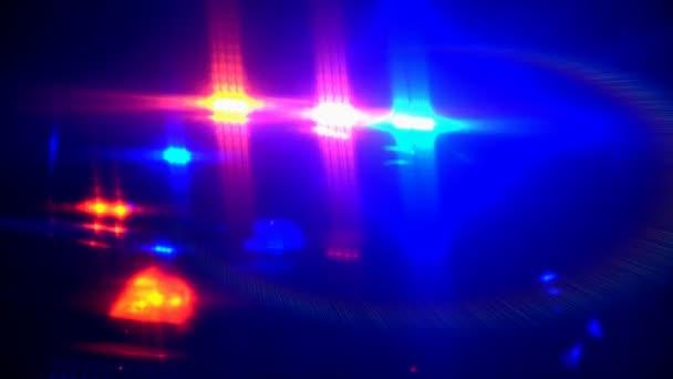 out-of zaměření blikající policejní auto světla