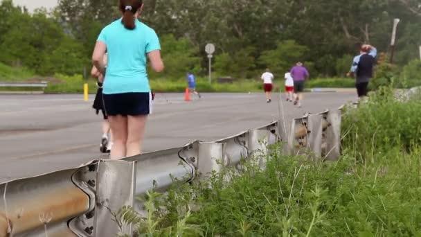 Runners in a race.