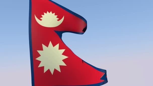 Flagge der Demokratischen Bundesrepublik nepal