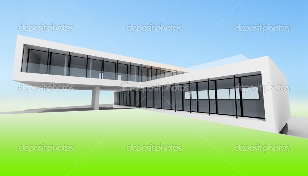 Maison Moderne Simple Photographie Synovec C 12878376