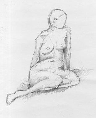 Sitting woman sketch