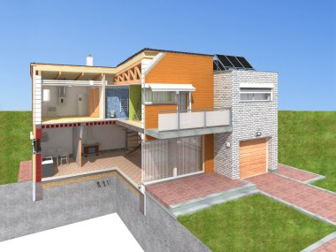 Section of a modern house