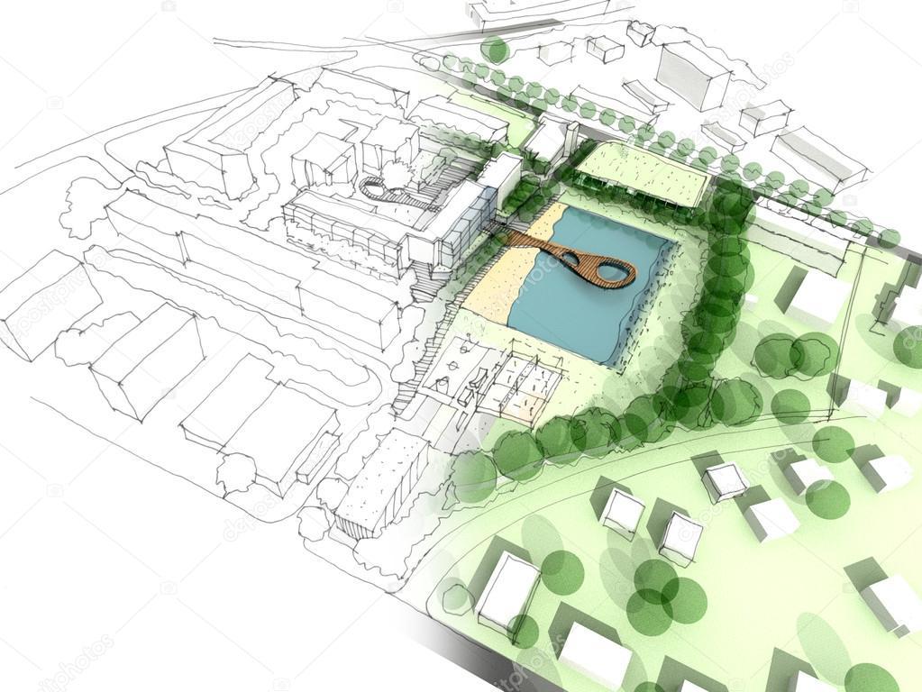 Illustration of an idea in urban design