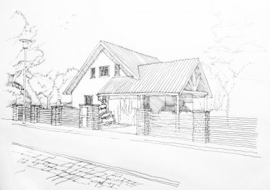 Sketch of a privat house