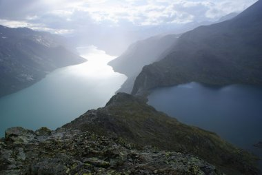 Spectacular view of lakes