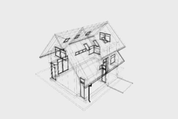 Sketch and rendering of modern house