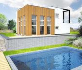 Megjelenítés egy új, modern ház