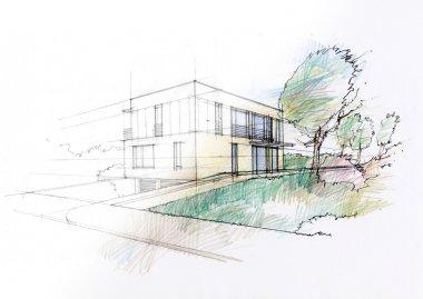 Modern house sketch