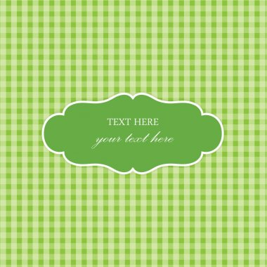 Green Plaid Design with Frame