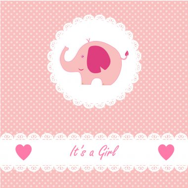 Its a girl baby with little baby elephant