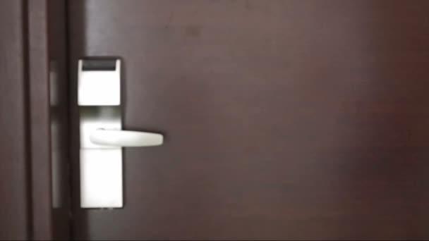 Eingabe Tür im Hotelzimmer