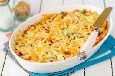 Macaroni, Pumpkin, Chicken and Cheese Pasta Bake