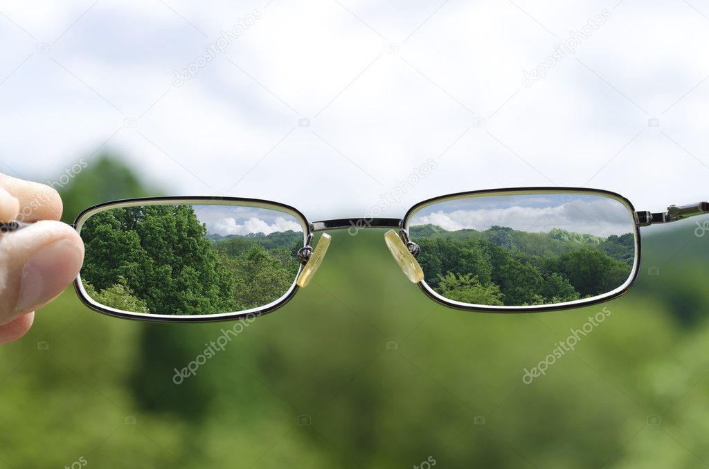 seeing nature through the glasses