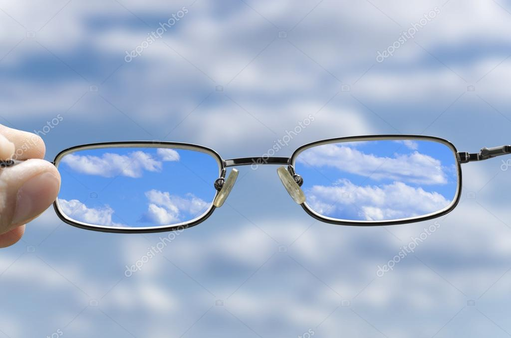 See the sky through glasses