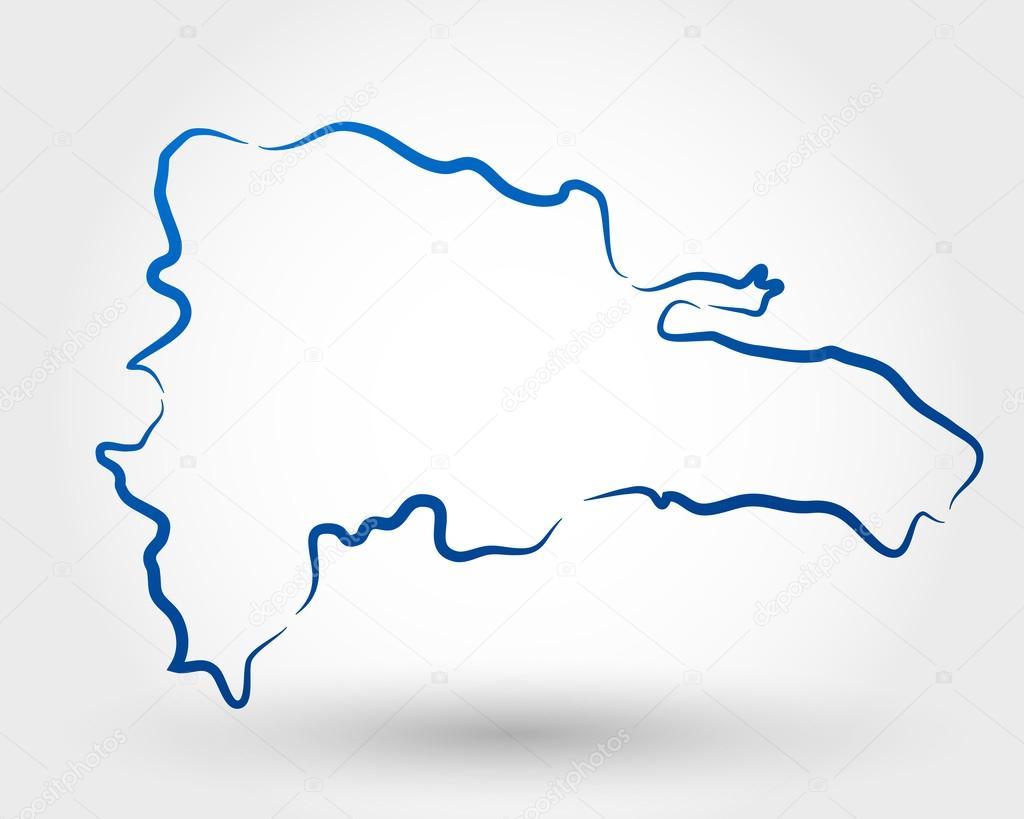 Dominican Republic Stock Vector Mdesignstudio - Dominican republic map vector