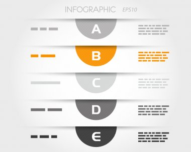 orange transparent striped semicircle infograhics