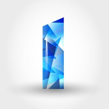 blue crystalline number 1