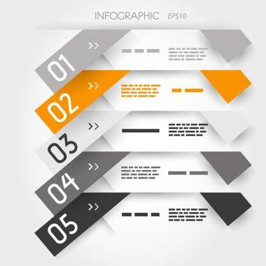orange five oblique long sticker options