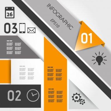 abstract orange geometric infographics